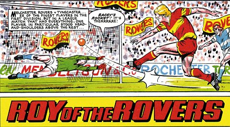 First appeared in 1954, this popular British comic strip follows the heroics of a fictional footballing behemoth.